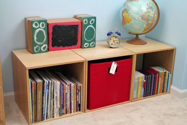 organized storage cubicles