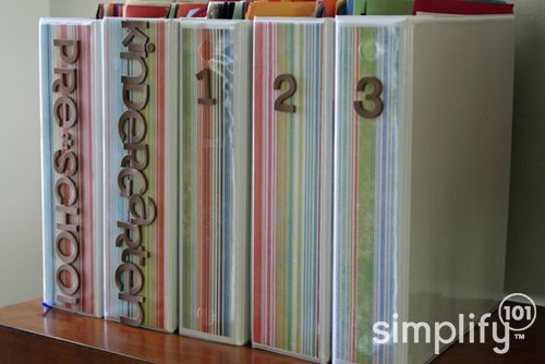 art and school paper binders