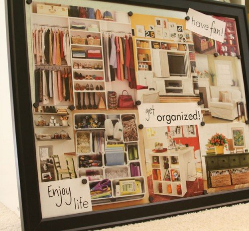 organized goals board