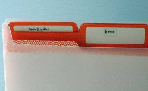 temporary file folder labels