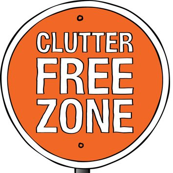 Clutter Free Zone Sign
