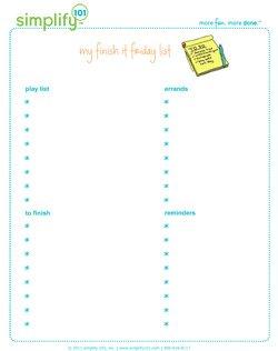 finish it friday list