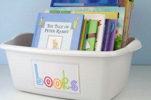 Clutter control solutions for books via www.simplify101.com