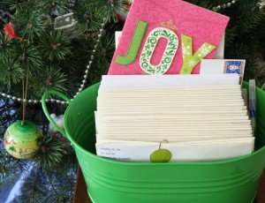 organize holiday cards