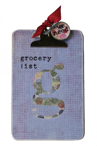 grocery shopping clipboard