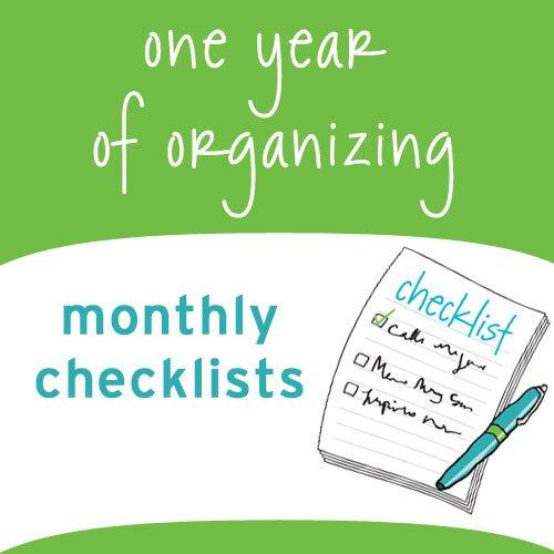 one year of organizing checklists
