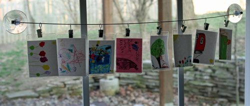 organize kids art