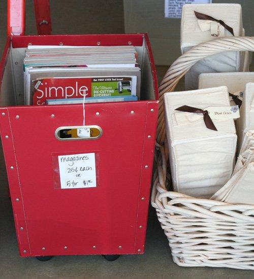 Garage sale bins