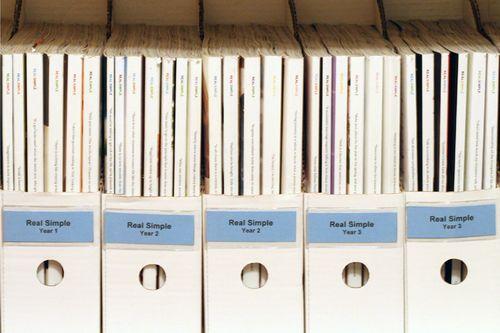 organizing magazines