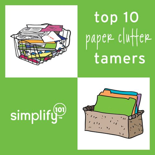Paper clutter tamers graphic A