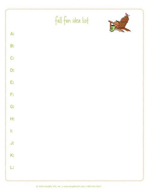 fall fun list - simplify 101