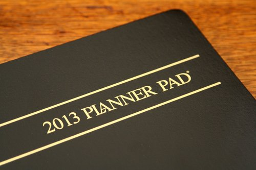 planner pad cover before customizing