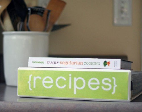 Organize for healthier eating with a custom recipe binder
