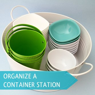 Organize containers in a central location to make organizing projects even simpler