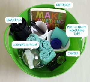 Stock an organizing toolkit with supplies to make organizing projects even easier.