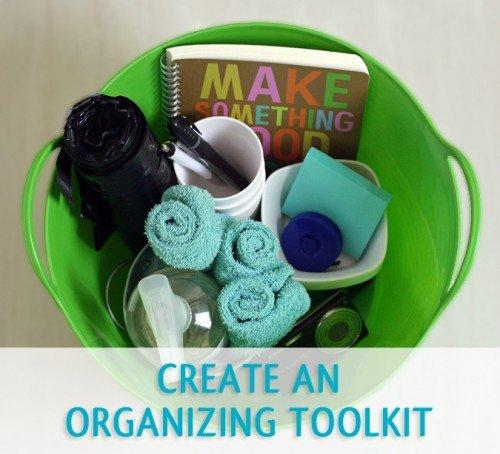 Make all your organizing projects easier by setting up an organizing toolkit.