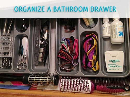 Organizing a bathroom storage area is a little project that gets big results.