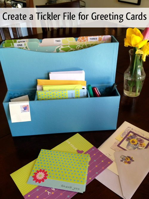 Organize Greeting Cards With A Tickler File