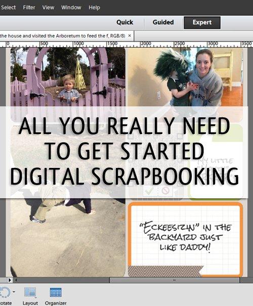 How To Get Organized To Begin Digital Scrapbooking