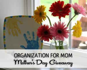 Organization for Mom - Mother's Day Giveaway from simplify101.com
