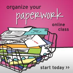 Organize Your Paperwork Online Class