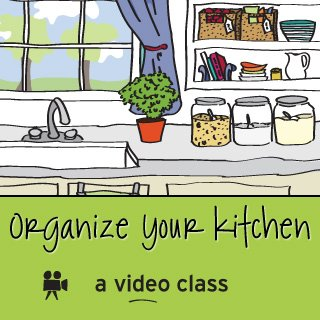 Organize Your Kitchen Online Video Class from simplify101.com