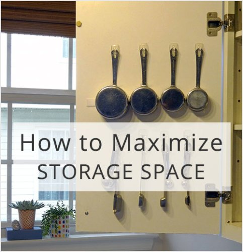 Maximize Storage by Using the Back of a Door