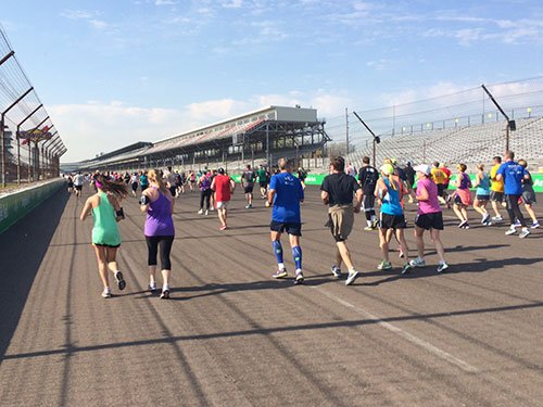 Mini Marathon Inside the Indianapolis Motor Speedway