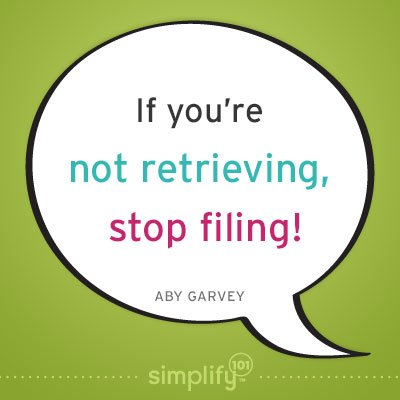 If You're Not Retrieving, Stop Filing!